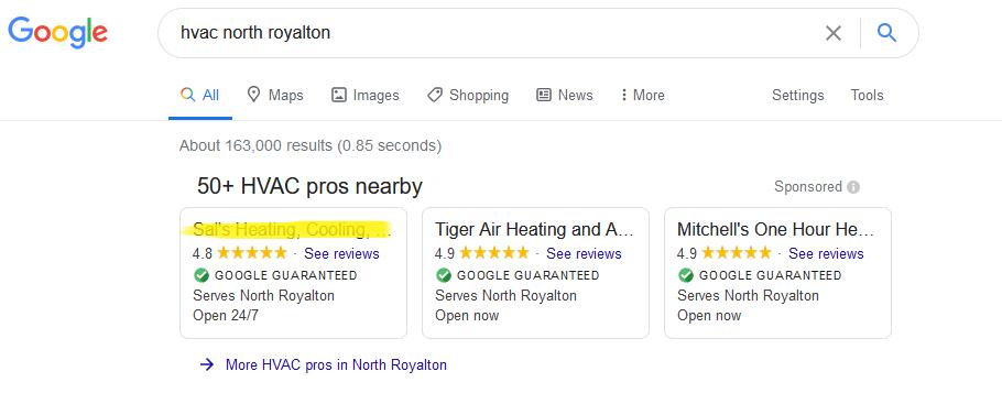 LSA google ranking